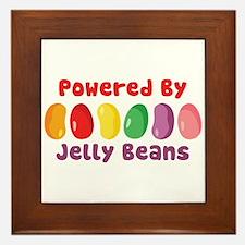 Powered By Jelly Beans Framed Tile