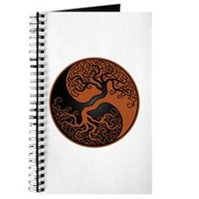 Brown And Black Yin Yang Tree Journal