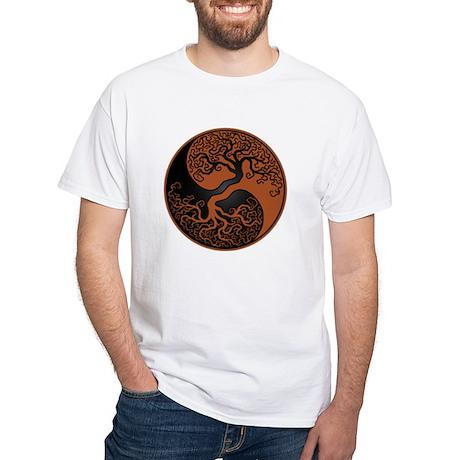 Brown and Black Yin Yang Tree T-Shirt