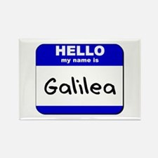hello my name is galilea Rectangle Magnet