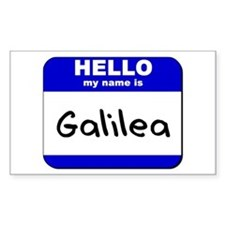 hello my name is galilea Rectangle Decal