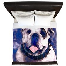 White Bulldog King Duvet