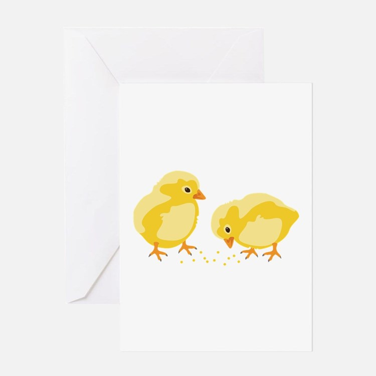 Baby Chicks Greeting Cards
