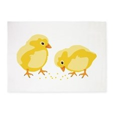 Baby Chicks 5'x7'Area Rug