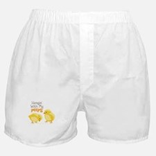 Hangin With My PEEPS Boxer Shorts