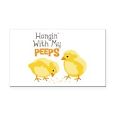 Hangin With My PEEPS Rectangle Car Magnet