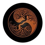 Taoism Round Car Magnets