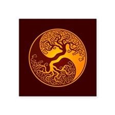 Yellow and Red Yin Yang Tree Sticker