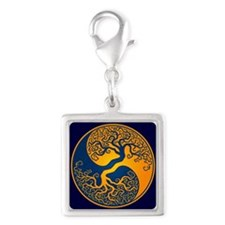 Yellow and Blue Yin Yang Tree Charms