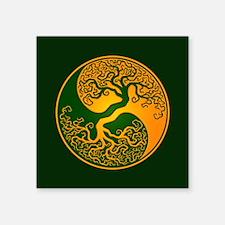 Yellow and Green Yin Yang Tree Sticker