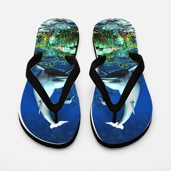 Underwater World Flip Flops