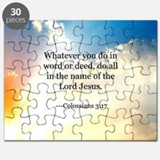 Bible verse, Colossians 3:17 Puzzle