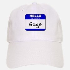 hello my name is gage Baseball Baseball Cap