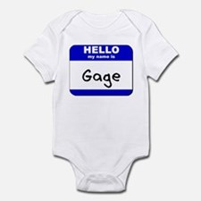 hello my name is gage  Infant Bodysuit