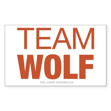 Team Wolf Sticker (Rectangle)