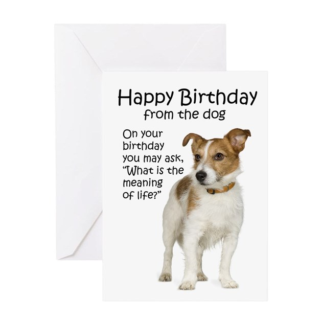Jack Russell Birthday Cards By Shopdoggifts