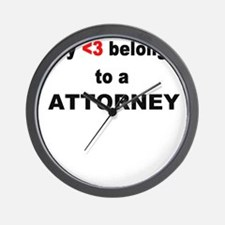 Attorney Wall Clock
