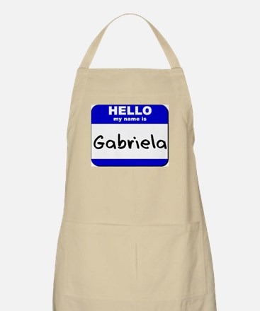 hello my name is gabriela  BBQ Apron