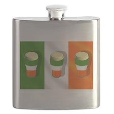 Irish Beer Flag Flask