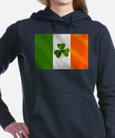 Irish Shamrock Flag Hooded Sweatshirt
