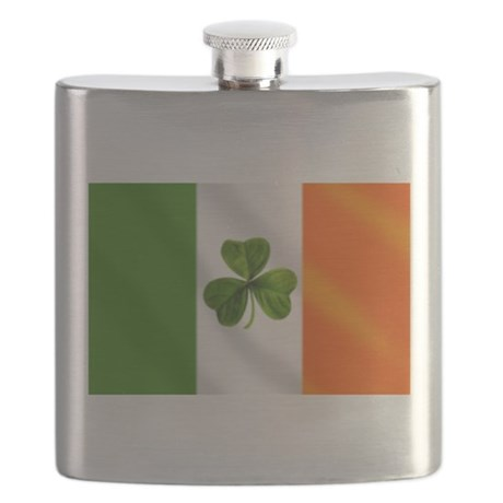 Irish Shamrock Flag Flask