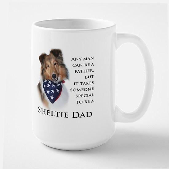 Sheltie Dad Large Mug