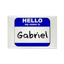 hello my name is gabriel Rectangle Magnet