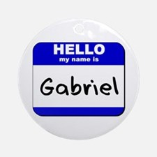 hello my name is gabriel  Ornament (Round)