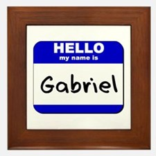 hello my name is gabriel  Framed Tile