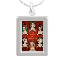Six Wives of Henry VIII Silver Portrait Necklace