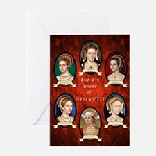 Six Wives of Henry VIII Greeting Card