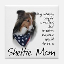 Sheltie Mom #1 Tile Coaster