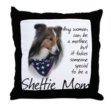 Sheltie Mom #1 Throw Pillow