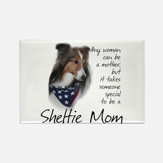 Sheltie Mom #1 Rectangle Magnet