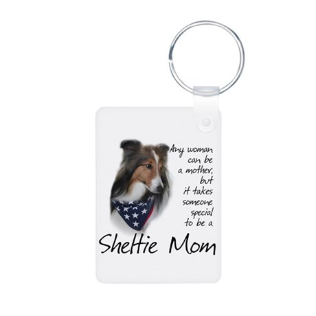 Sheltie Mom #1 Aluminum Photo Keychain