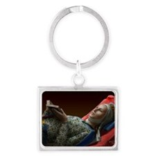Eleanor of Aquitaine Landscape Keychain