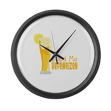 Feed Me Hefeweizen Large Wall Clock