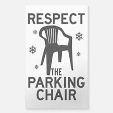 Respect The Parking Chair Decal