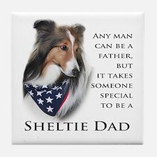 Sheltie Dad Tile Coaster