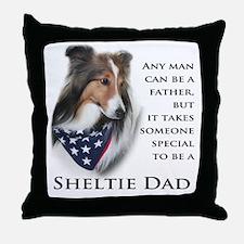 Sheltie Dad Throw Pillow