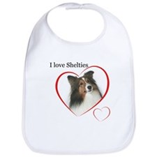 Sheltie Love Bib