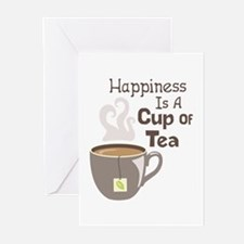 Happiness Is A Cup Of Tea Greeting Cards