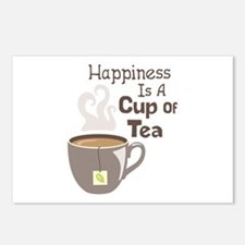 Happiness Is A Cup Of Tea Postcards (Package of 8)