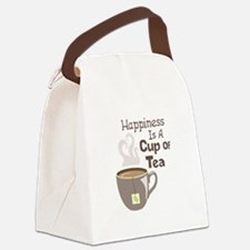 Happiness Is A Cup Of Tea Canvas Lunch Bag
