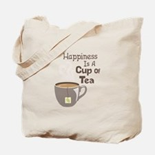 Happiness Is A Cup Of Tea Tote Bag