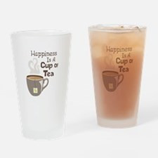 Happiness Is A Cup Of Tea Drinking Glass