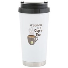 Happiness Is A Cup Of Tea Travel Mug