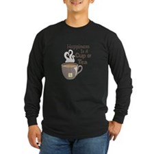 Happiness Is A Cup Of Tea Long Sleeve T-Shirt