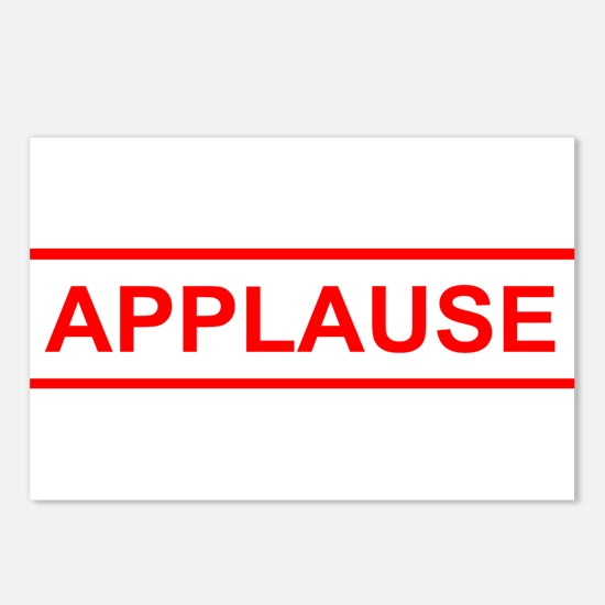 Applause Postcards (Package of 8)