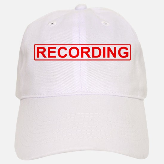 Recording Baseball Baseball Cap
